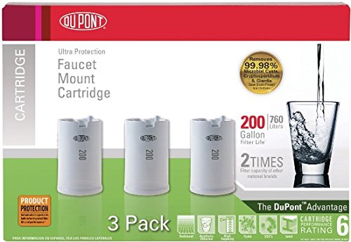 DuPont WFFMC303X Ultra Protection 200-Gallon Faucet Mount Water ...