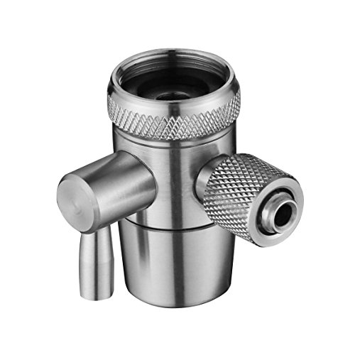 Faucet Adaptor Diverter Valve Stainless 1/4″ for Tube Countertop ...